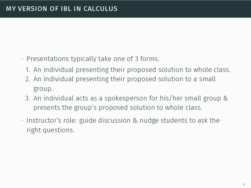 my version of ibl in calculus ∙ Presentations t...