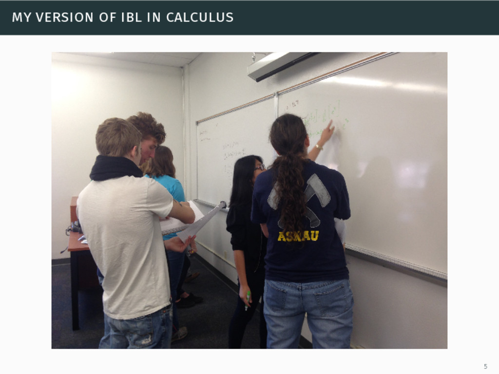 my version of ibl in calculus 5