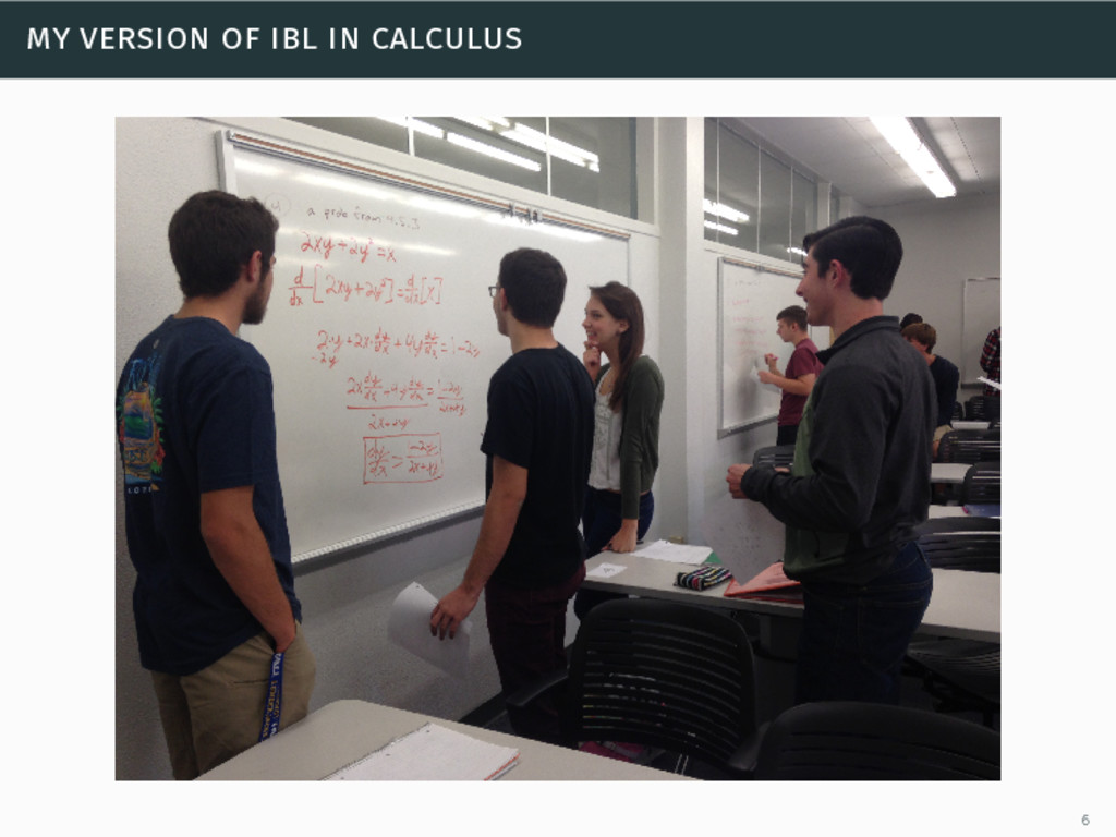 my version of ibl in calculus 6