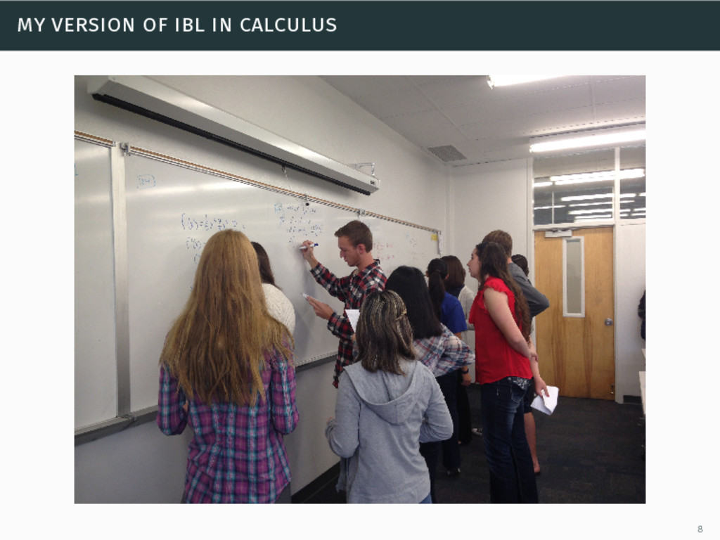 my version of ibl in calculus 8