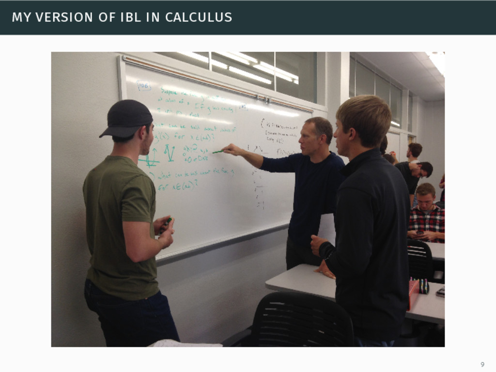 my version of ibl in calculus 9