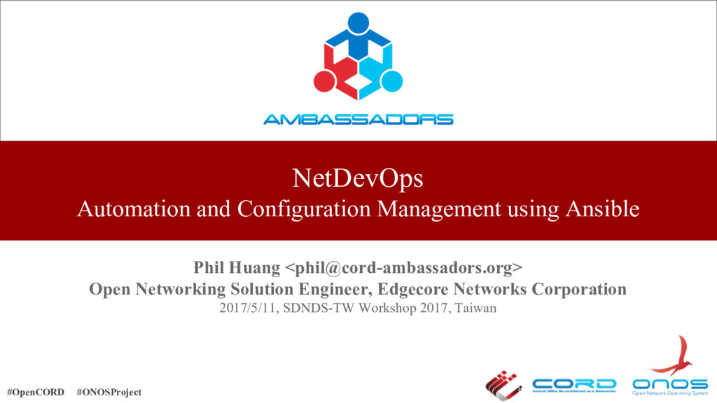 NetDevOps Automation and Configuration Manageme...