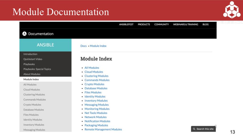 13 Module Documentation