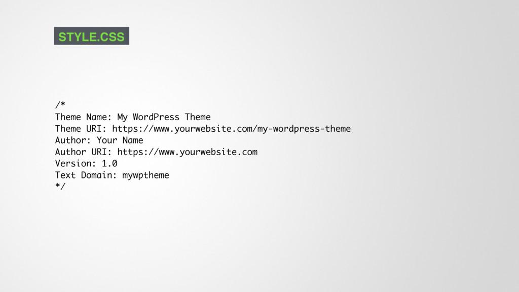 /* Theme Name: My WordPress Theme Theme URI: ht...