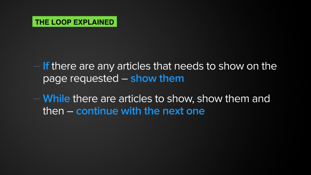 — If there are any articles that needs to show ...