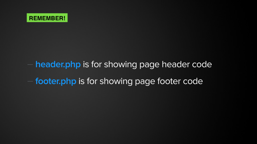 — header.php is for showing page header code — ...