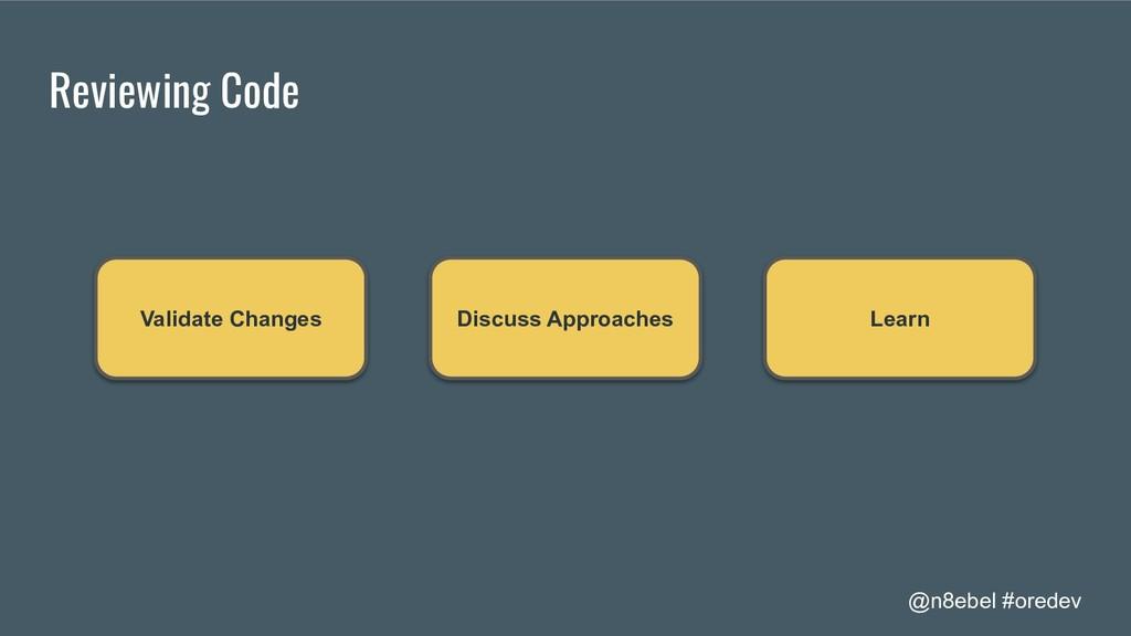 @n8ebel #oredev Reviewing Code Validate Changes...