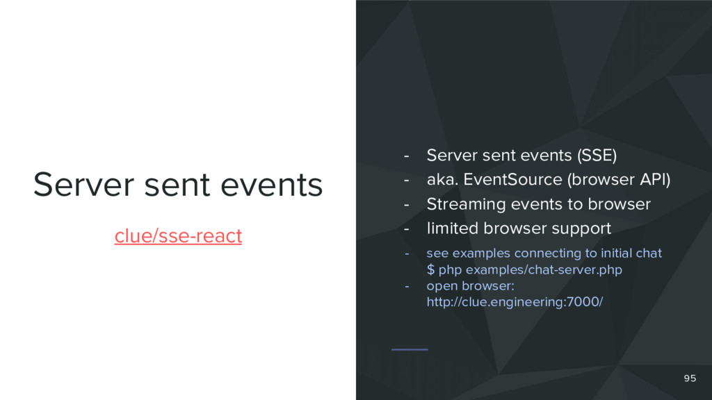 Server sent events clue/sse-react - Server sent...
