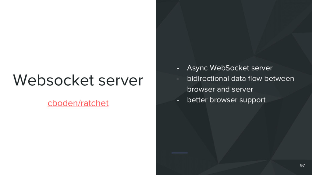 Websocket server cboden/ratchet - Async WebSock...