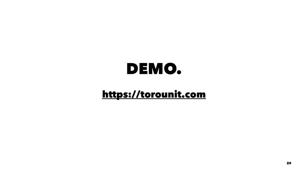DEMO. https://torounit.com 29