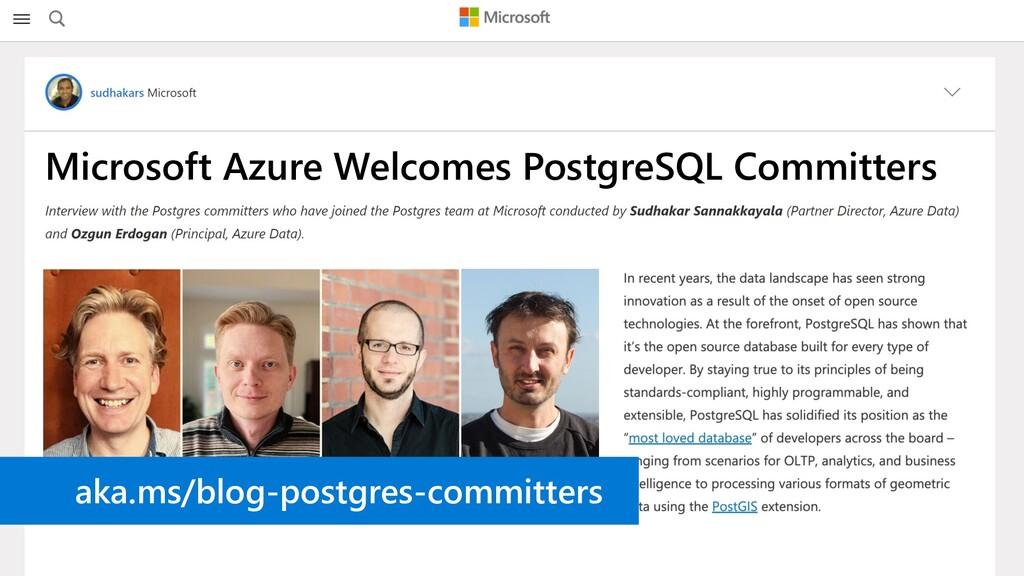 Microsoft Azure Welcomes PostgreSQL Committers ...