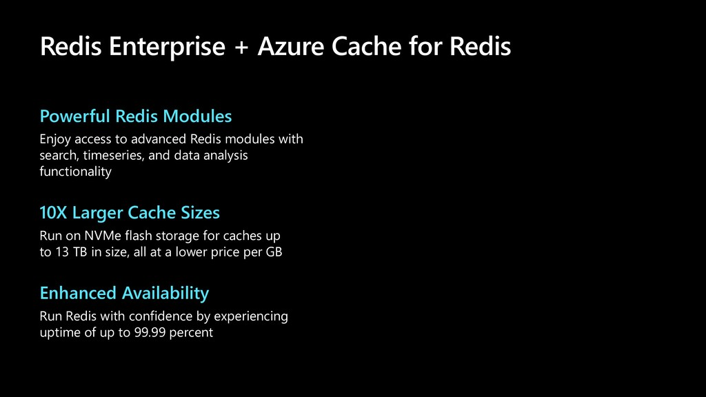 Powerful Redis Modules Enjoy access to advanced...