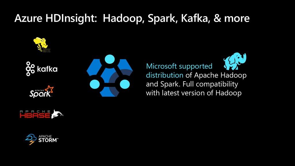 Azure HDInsight: Hadoop, Spark, Kafka, & more M...