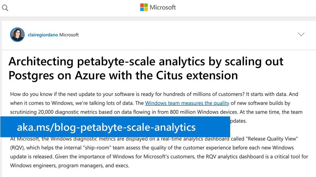 Architecting petabyte-scale analytics by scalin...