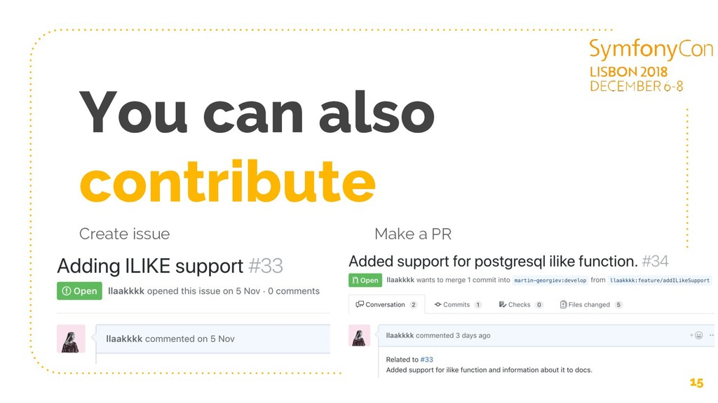 Create issue You can also contribute Make a PR ...