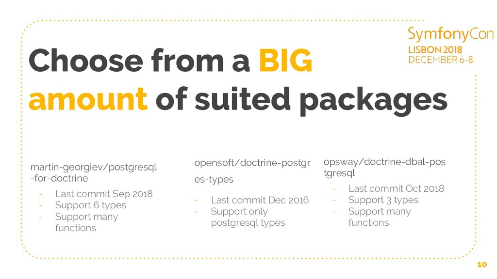 Choose from a BIG amount of suited packages mar...
