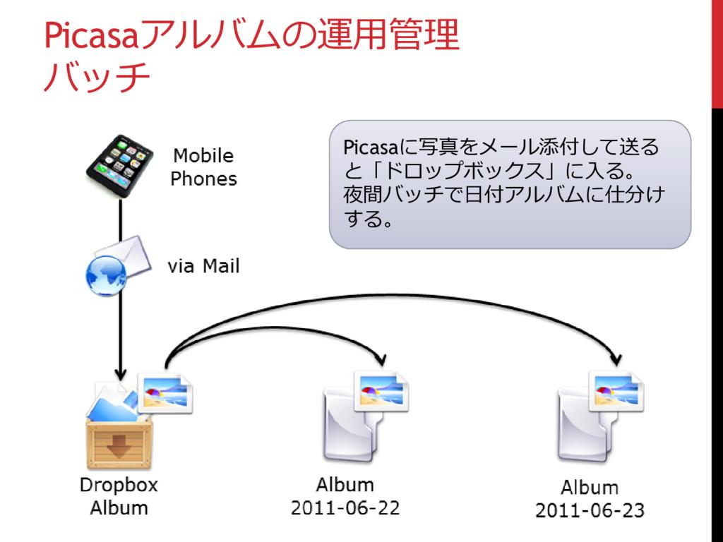 Picasaアルバムの運用管理 バッチ Picasaに写真をメール添付して送る と「ドロップボ...