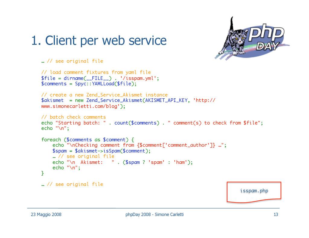 1. Client per web service … // see original fil...