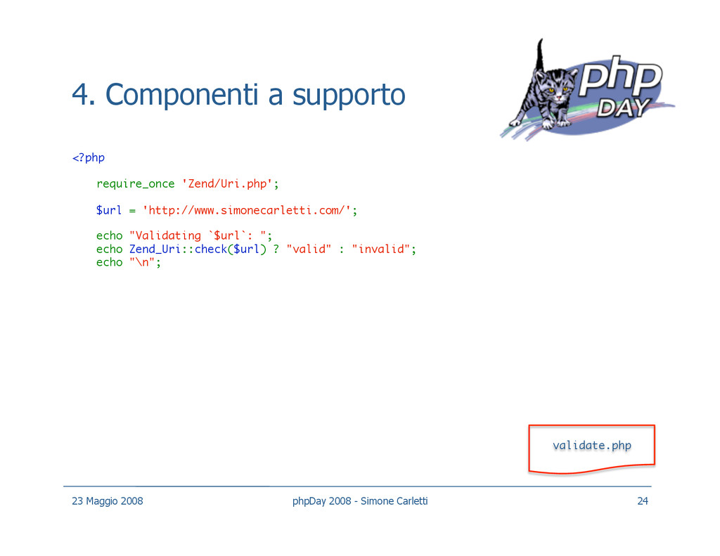 4. Componenti a supporto <?php require_once 'Z...