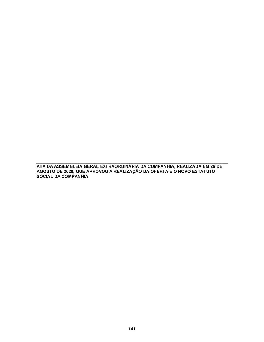 ATA DA ASSEMBLEIA GERAL EXTRAORDINÁRIA DA COMPA...