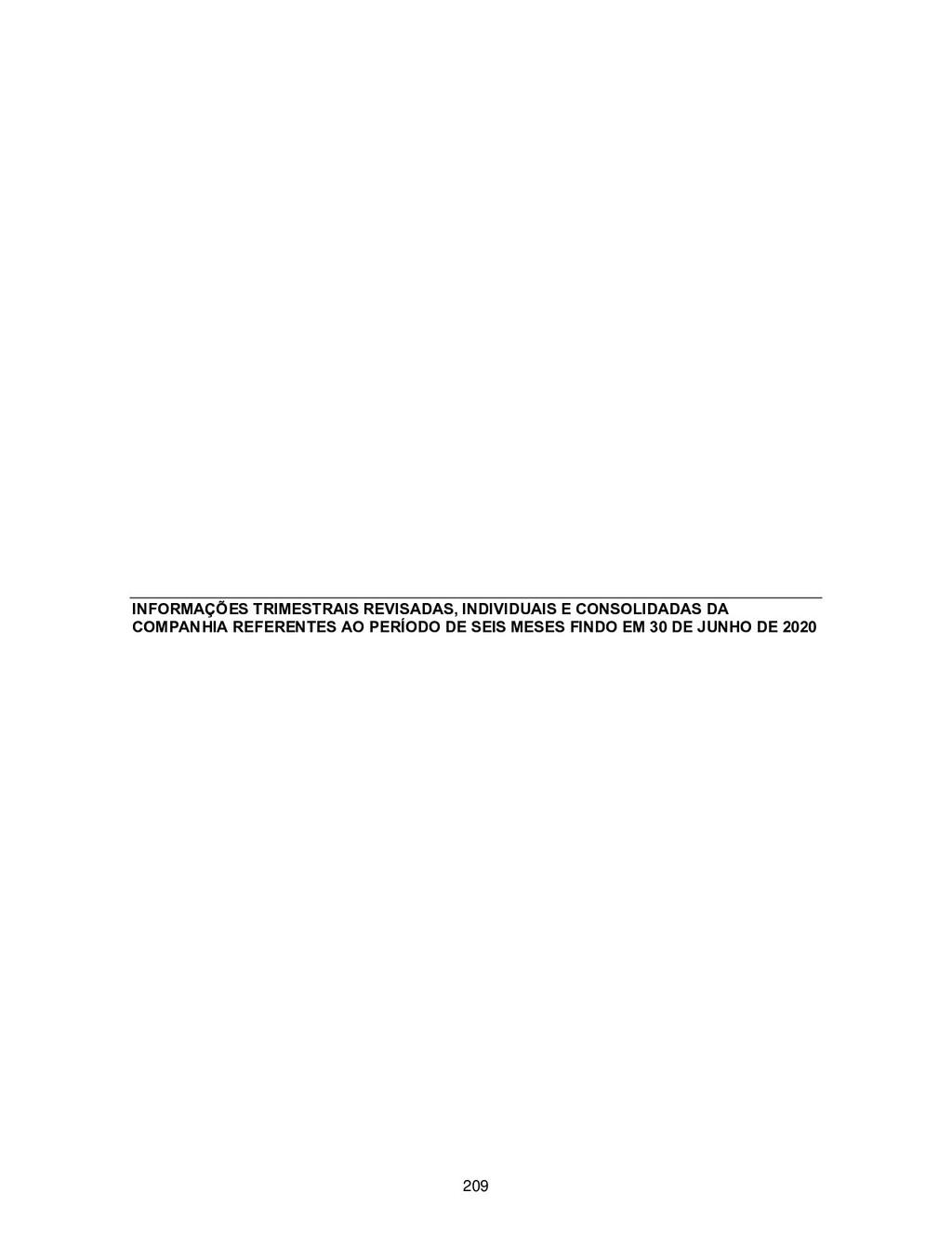 INFORMAÇÕES TRIMESTRAIS REVISADAS, INDIVIDUAIS ...