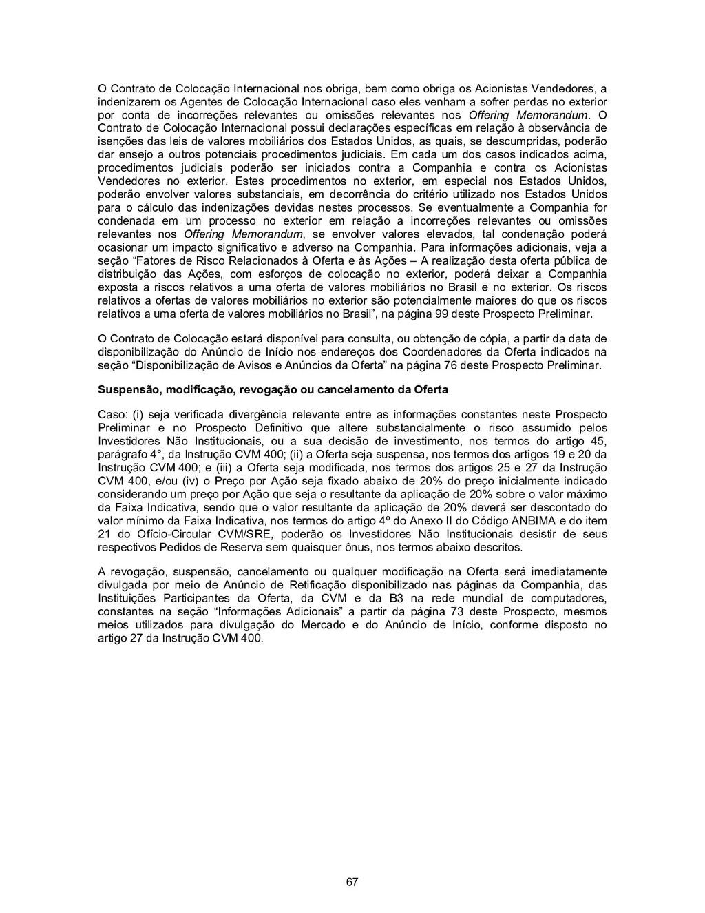 67 O Contrato de Colocação Internacional nos ob...