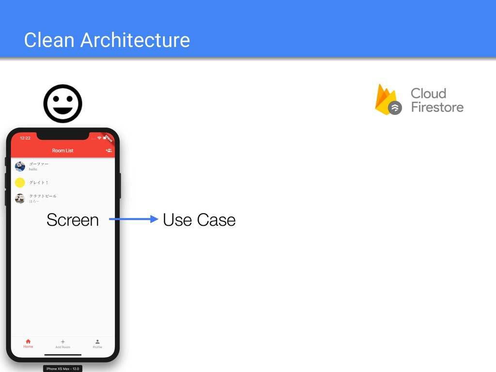 Clean Architecture Use Case Screen