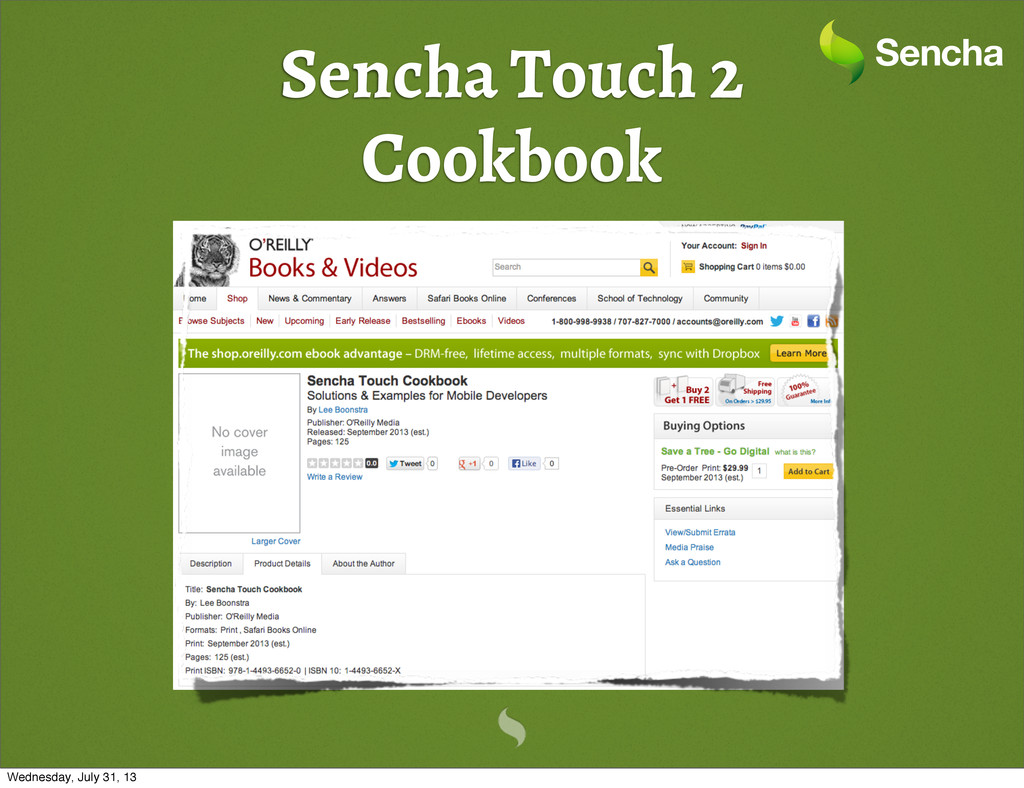 Sencha Touch 2 Cookbook Wednesday, July 31, 13