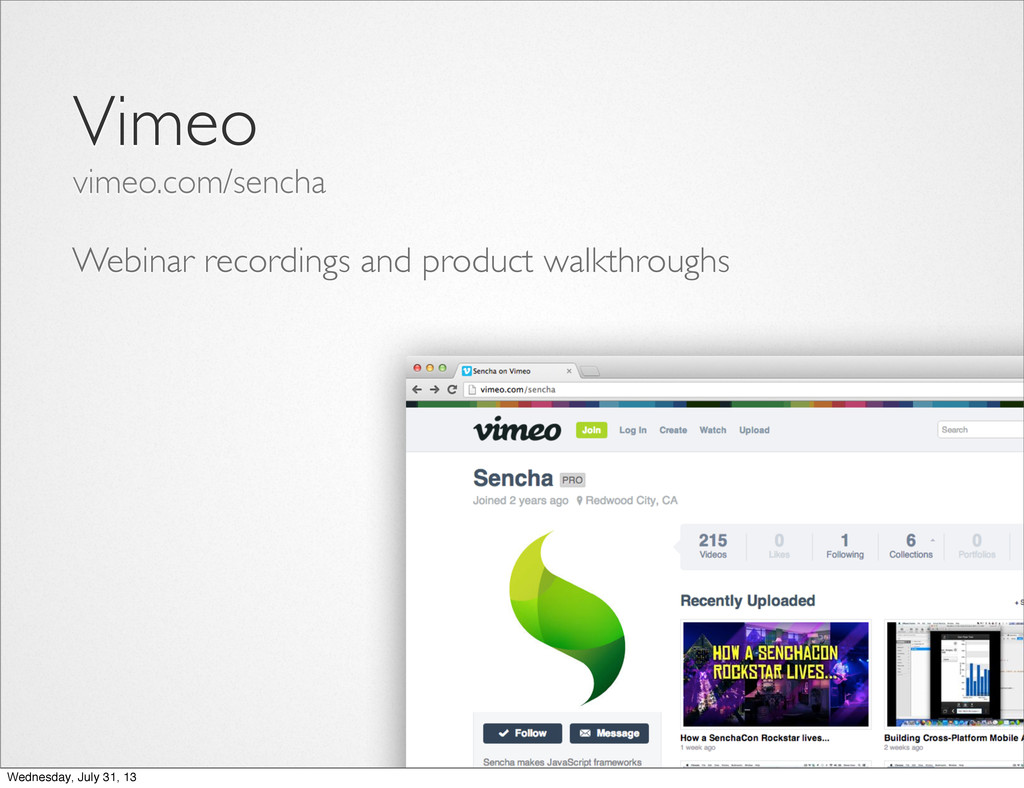 Webinar recordings and product walkthroughs Vim...