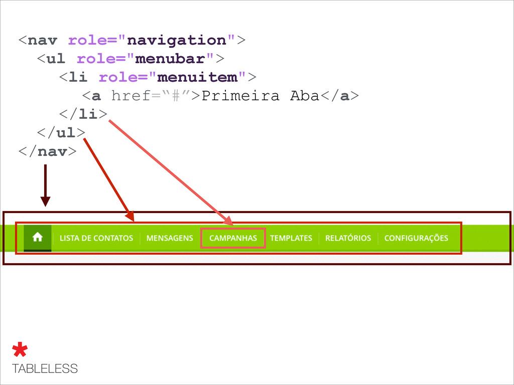 "<nav role=""navigation""> ! ! ! ! ! </nav> ! ! <l..."