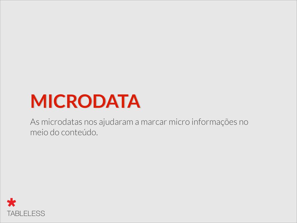 MICRODATA As microdatas nos ajudaram a marcar m...