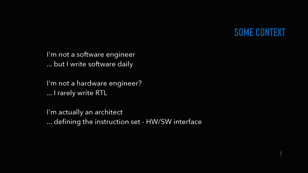 I'm not a software engineer ... but I write so...