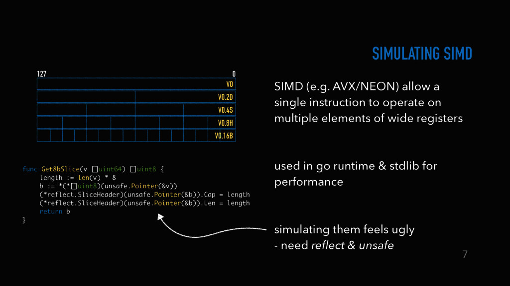 SIMULATING SIMD SIMD (e.g. AVX/NEON) allow a si...