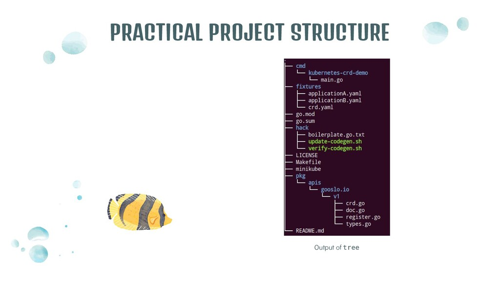 Output of tree PRACTICAL PROJECT STRUCTURE