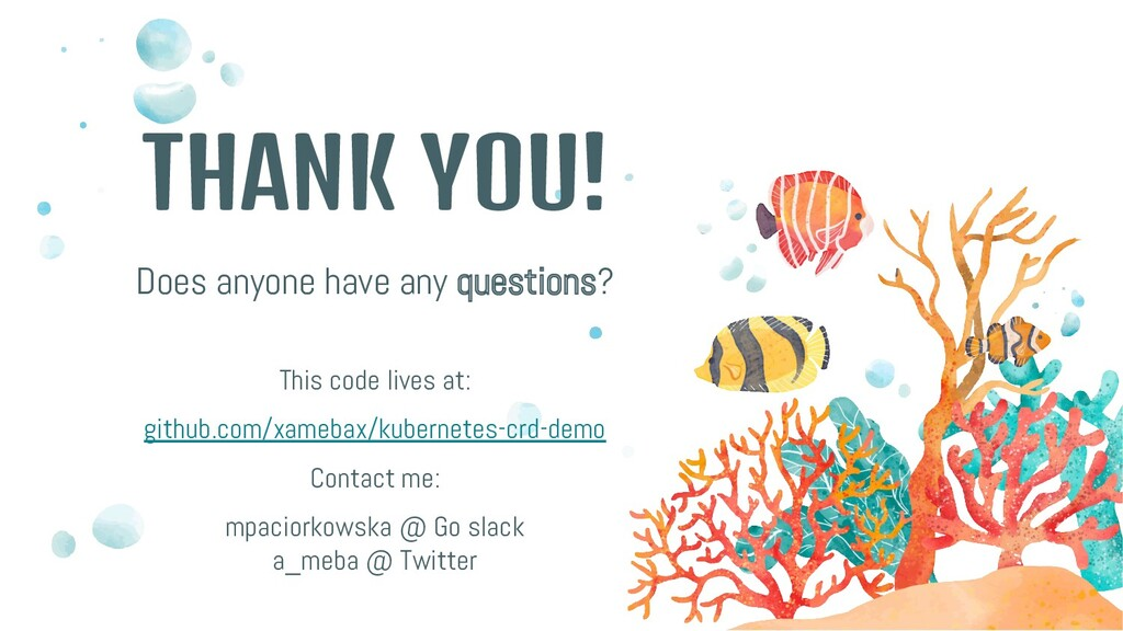 THANK YOU! Does anyone have any questions? This...
