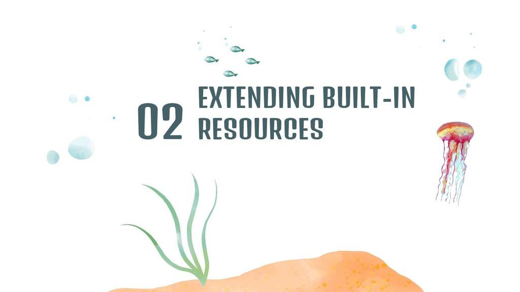 EXTENDING BUILT-IN RESOURCES 02
