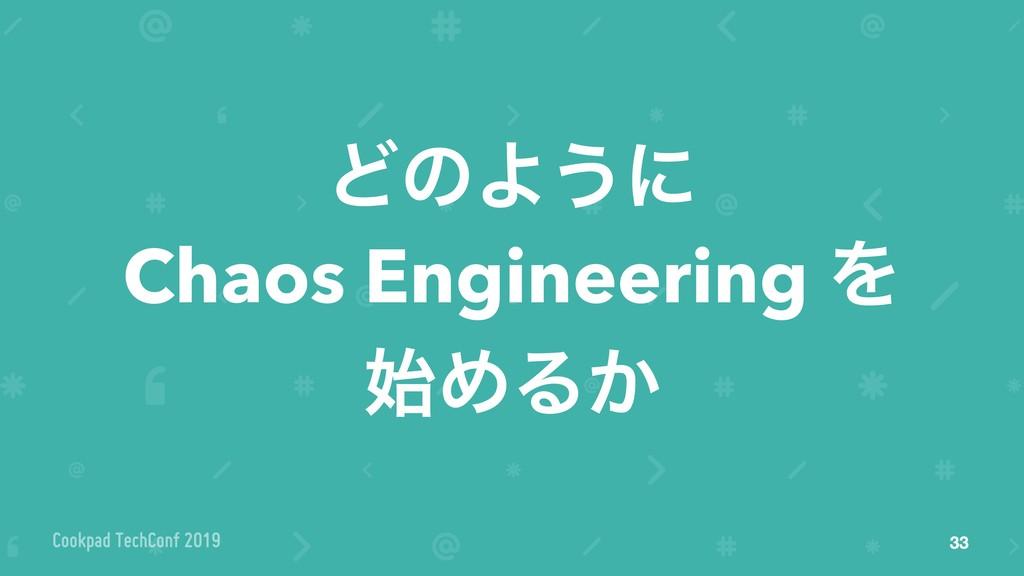 ͲͷΑ͏ʹ Chaos Engineering Λ ΊΔ͔ 33