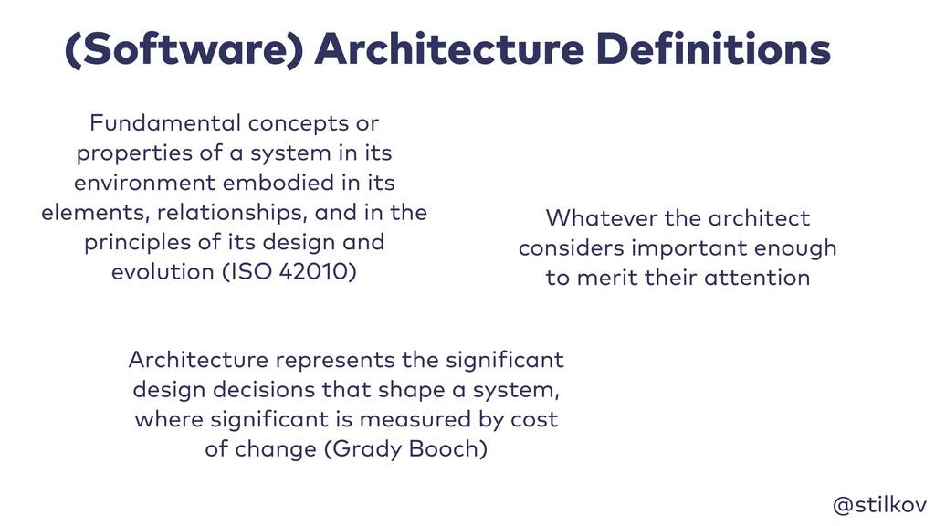 @stilkov (Software) Architecture Definitions Fu...
