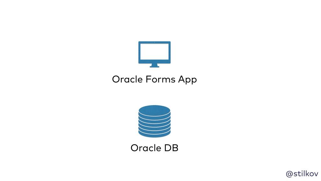 @stilkov Oracle DB Oracle Forms App