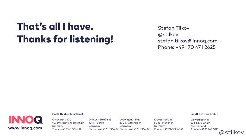 @stilkov Stefan Tilkov @stilkov stefan.tilkov@i...