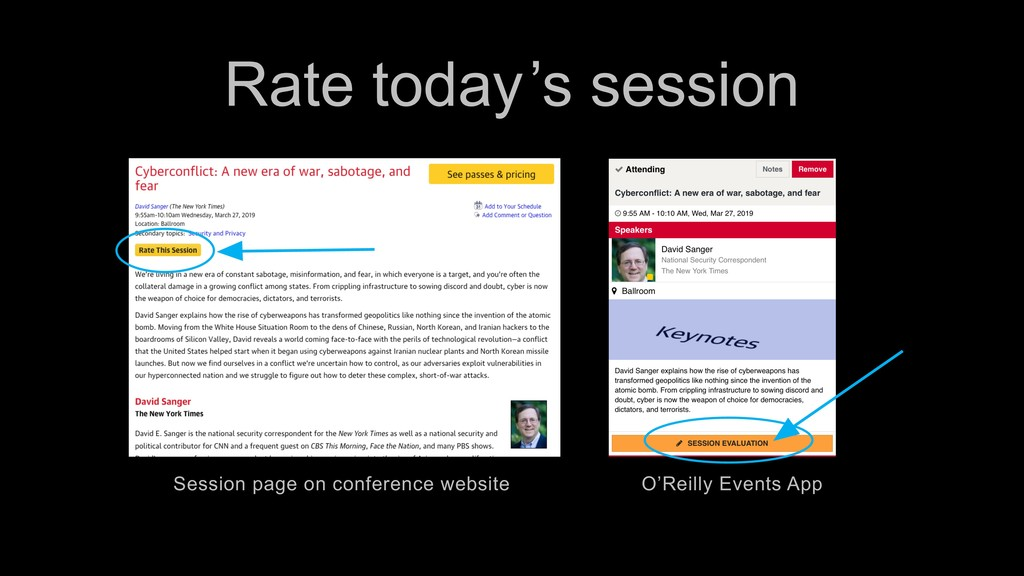 Rate today 's session Session page on conferenc...