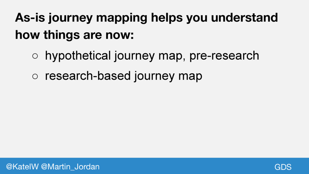 GDS @KateIW @Martin_Jordan As-is journey mappin...