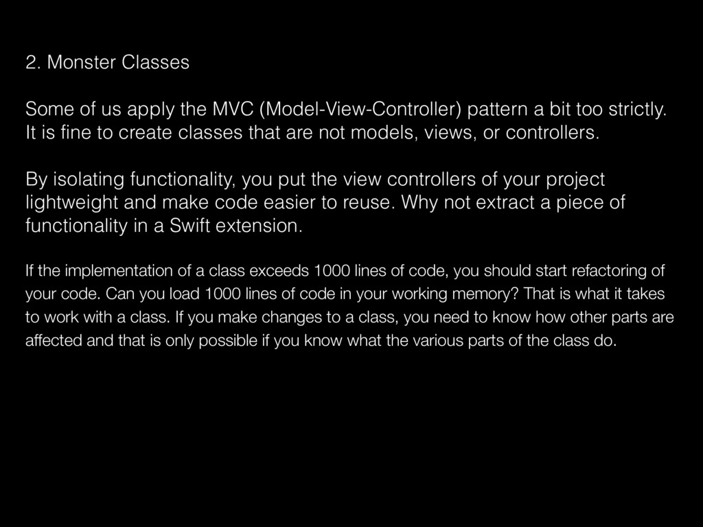 2. Monster Classes Some of us apply the MVC (Mo...