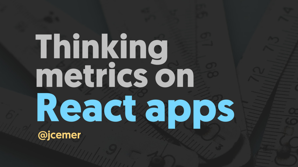 Thinking metrics on