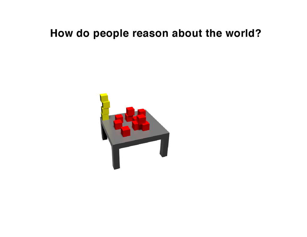 How do people reason about the world?