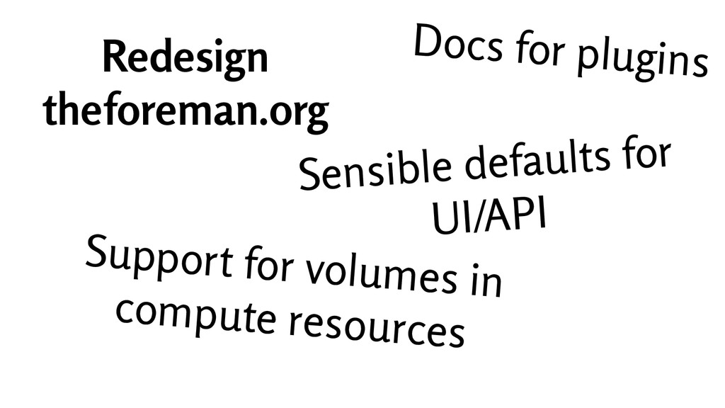 Docs for plugins Redesign theforeman.org Sensib...