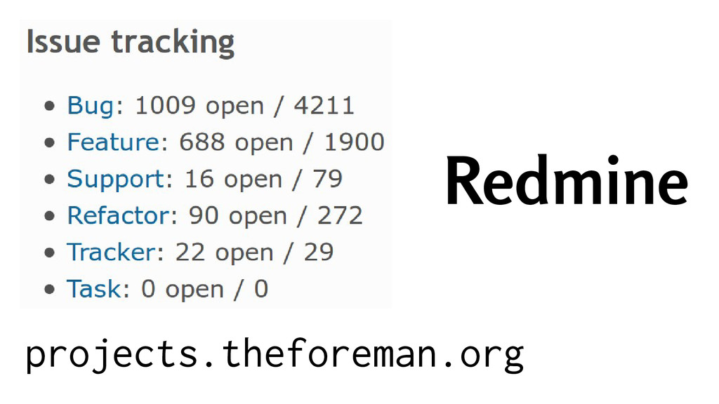 Redmine projects.theforeman.org