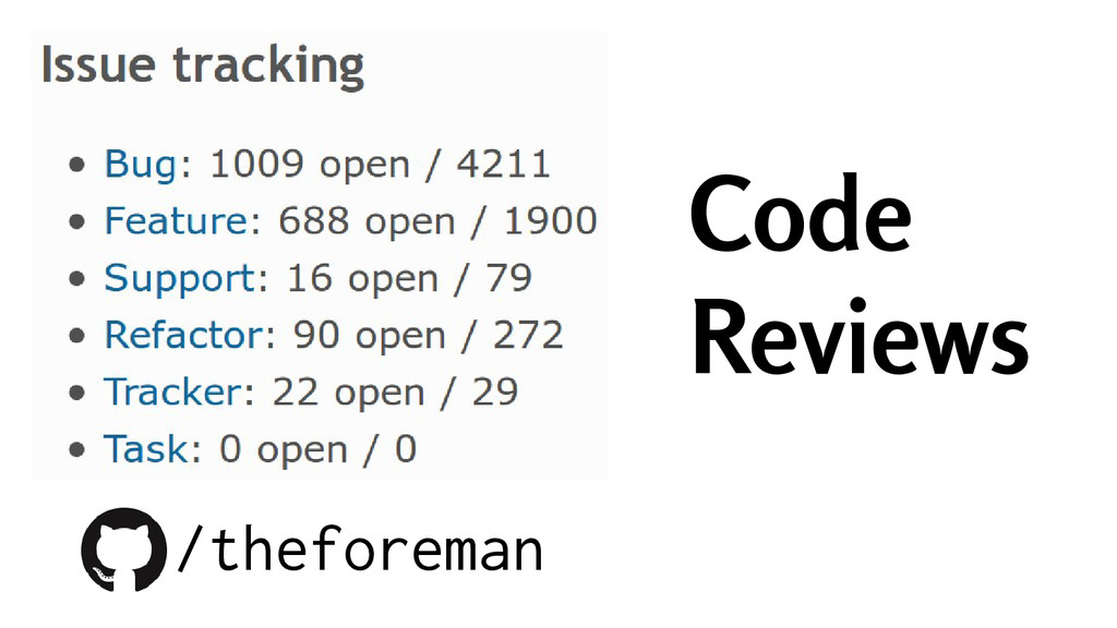 Code Reviews /theforeman