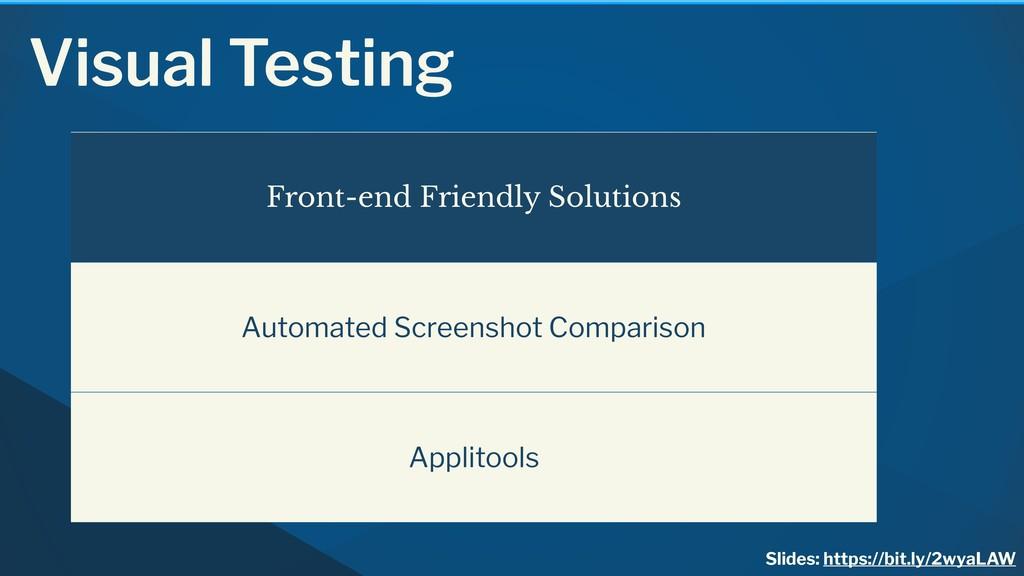 Visual Testing Slides: https://bit.ly/2wyaLAW F...