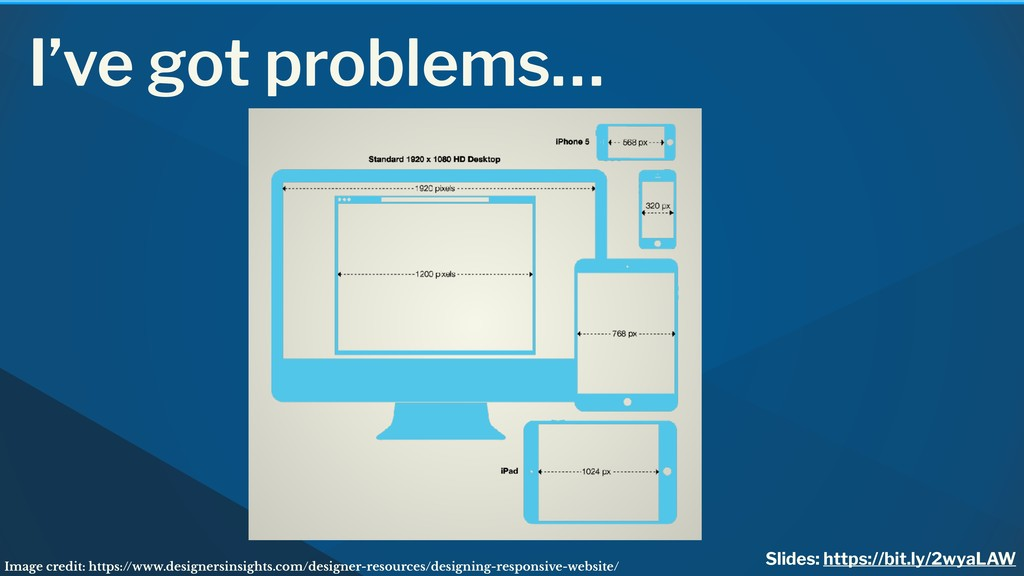 I've got problems… Image credit: https://www.de...